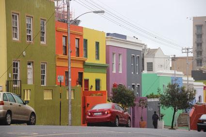 les maisons colorées de Bo Kaap