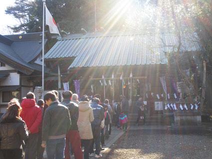 初詣は狛江の伊豆美神社に行きました!