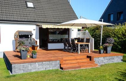 holzterrasse in filderstadt, stuttgart: terrasse holz ... - Gartengestaltung Mit Holzterrasse