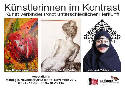 Galerie Time Ausstellung - Künstlerinnen im Kontrast