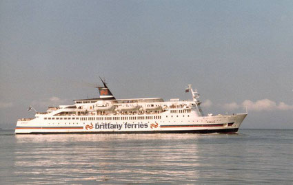 M/V Goelo, a ship chartered in by Brittany Ferries between 1980 and 1982.