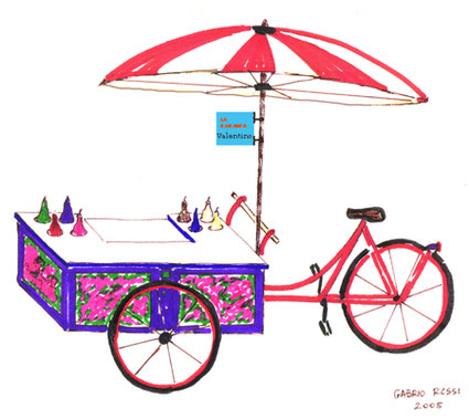 Die erste Zeichnung des mobilen Eisstandes...