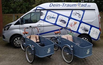 Mit diesem Fahrzeug liefern wir Ihnen Ihr CargoBike !