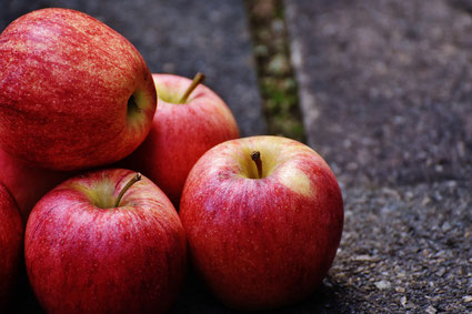 Äpfel reif rot saftig gesund