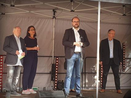 Schirmherr Christian Piwarz eröffnete am 19. September das  29. Prohliser Herbstfest.