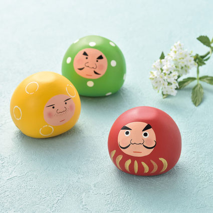 *Nankichi in yellow, Gonzo in green, and Hachiro in red