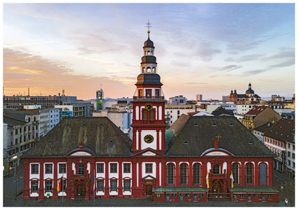 Mannheim, Mannheim Images, Fotodrucke, Thomas Seethaler, Thomas Seethaler Fotografie, Altes Stadthaus Mannheim, Marktplatz Mannheim, St. Sebastian-Kirche Mannheim