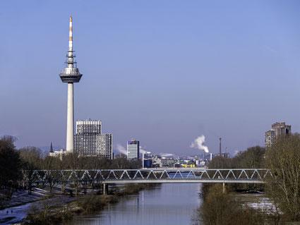 Mannheim, Mannheim Images, Fotodrucke, Thomas Seethaler, Thomas Seethaler Fotografie, Skyline Mannheim, Fernsehturm Mannheim, Neckar