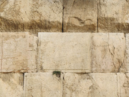 Ancient inscription on the Western Wall