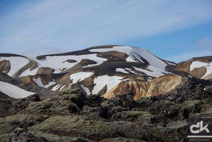 Landmannalaugar - Lavalandschaften und wunderschöne Bergformationen