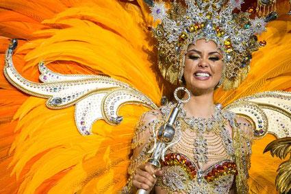 Judit López García, Reina del Carnaval de 2017. | ANDRÉS GUTIÉRREZ - Diaria de Avisos