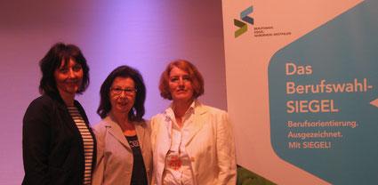 Von links nach rechts: Gabriele Paar, Renate Frohnhöfer, Gabriele Bellof