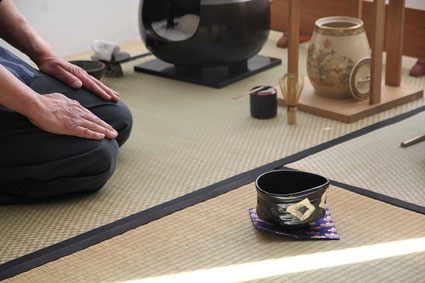 Teeraum Tenmoku-an im Takujû-Haus