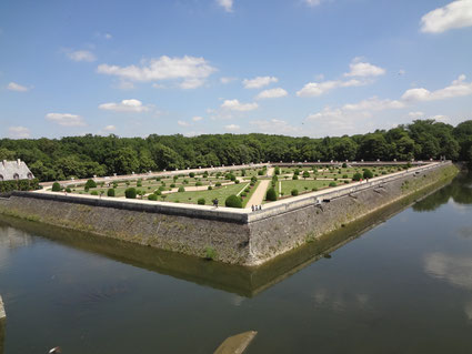 Chennonceau. Jardin de Diane de Poitiers (Source Laure Trannoy).