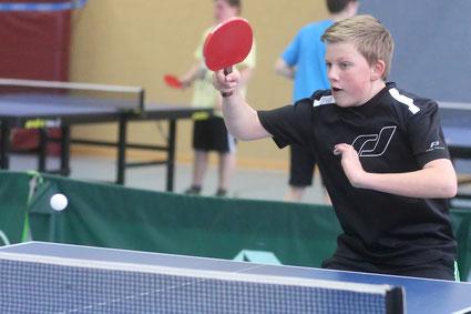 Holte zwei Punkte für die zweite Jungenmannschaft: Sebastian Hustadt