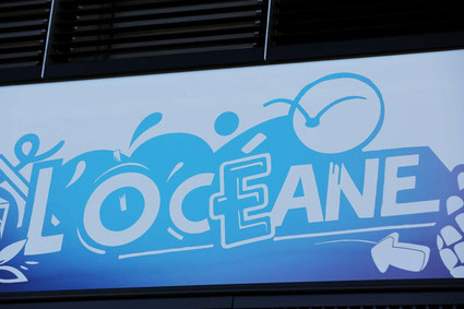 """La motrice de la rame """"L'Océane"""", graffée par Episone (graffeur bordelais). CRÉDIT PHOTO : QUENTIN SALINIER"""