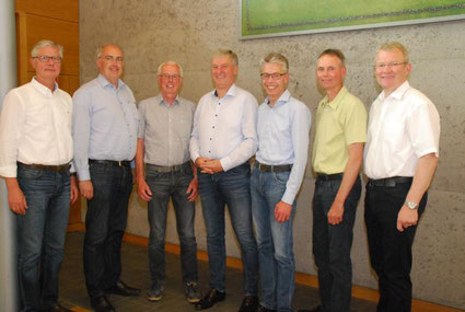 v.l. Reinhard Nannemann, Bernd Wichmann, Herbert Runge, Peter Klaas, Ralf Oeltjen, Heino von Garrel und Nikolaus Hüls.