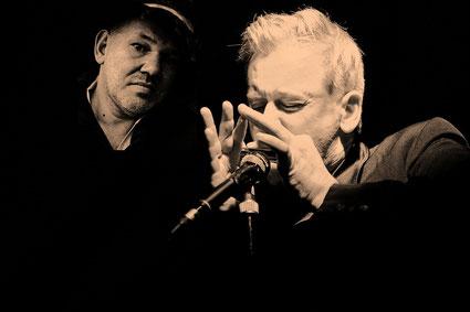 Gastieren einmal mehr in Grebin: Georg Schroeter (links) und Marc Breitfelder.