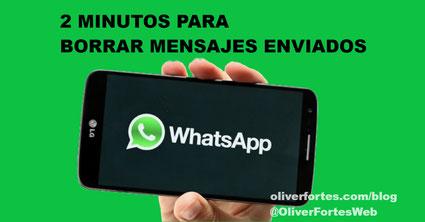 Dos minutos para borrar mensajes en WhatsApp