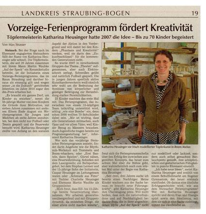 Artikel über Katharina Heusinger,Steinacher Ferienwoche