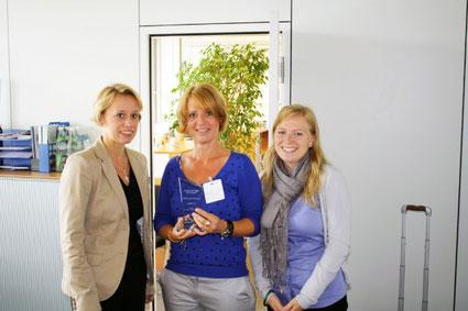 Ute Fuchs bei der Übergabe der Auszeichnung beim BSH Lieferantenaudit