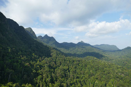 Die Aussicht vom Skycab, Langkawi, Malaysia