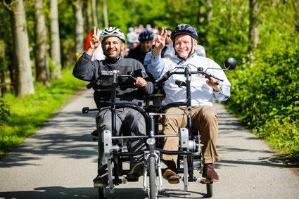 Tandem Tag mit den Dreirad-Experten von Dreirad-Zentrum Düsseldorf und Van-Raam Dreiräder für Erwachsene, Senioren und Menschen mit Behinderungen