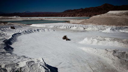 Salar où est extrait le lithium en Amérique du Sud