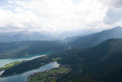 Walchensee und Berge