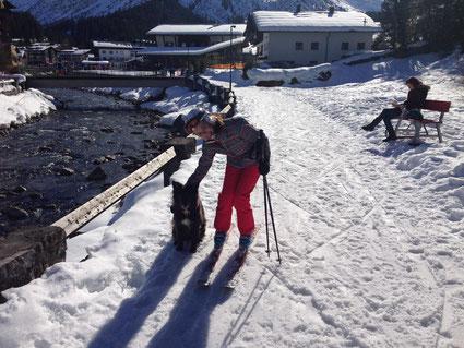 Spazierweg für Hunde in Lech vom Schloßkopf-Lift zum Schlegelkopf-Lift.