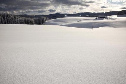 Winterlandschaft mit Bauernhof im Schwarzwald