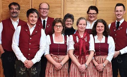 v. l. n. r.: Bernd von Hösslin, Sebastian Sonntag, Andreas Weidner, Erika Eschner, Gabi Fuchs, Selma Haug, Johanna Menz, Claudia Pilgram, Johannes Kreißl
