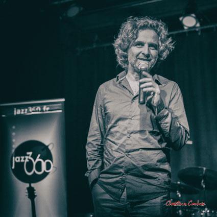 Samedi 1er février 2020, élection du nouveau président de l'Association JAZZ360, Laurent Vanhée. Photographie Christian Coulais