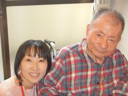 代表と宮脇昭先生の2ショット