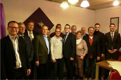 Der neue gewählte Vorstand um den Vorsitzenden Marc Delzepich Foto: C. Hahn