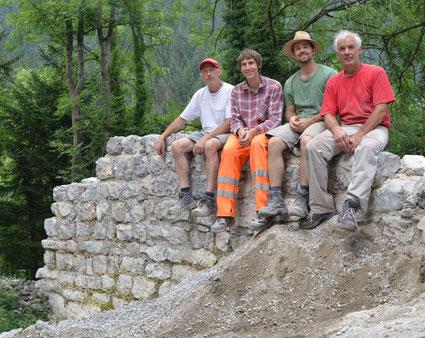 Franz Brunner, Lukas Werlberger, Jakob Brunner und Joe Bertsch, 2012