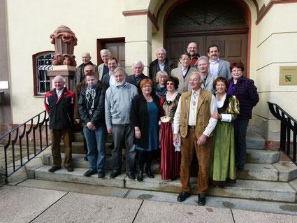 Mitglieder des Vereins für Gechichte der Stadt Lichtenstein/Sa. e.V.