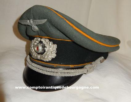 schirmmutze  casquette allemande officier