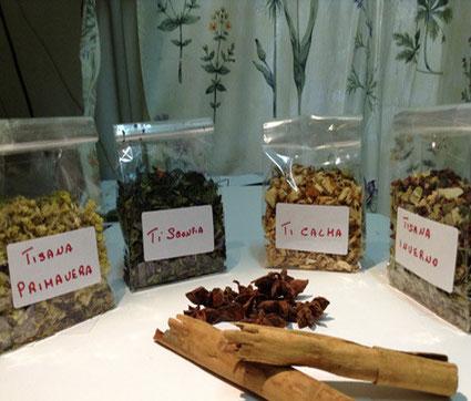Tisane su misura: tisana Primavera, tisana Inverno, Tisana calmante e tante altre preparate dall'erboristeria L'Altea