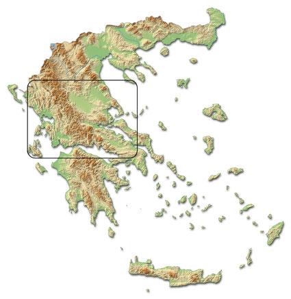 Die Cross Country Tour führt quer durch Griechenland