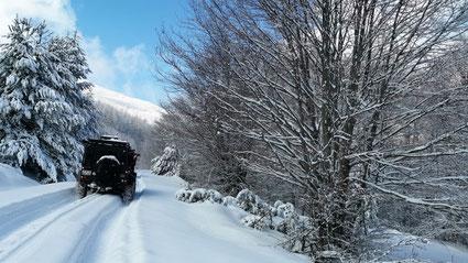 Offroad Spass im Schnee in Griechenland