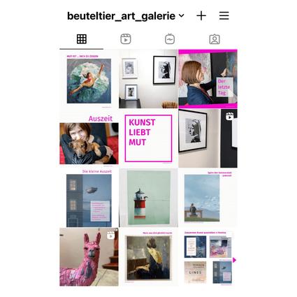 Beuteltier Art Galerie ist aktiv auf Instagram