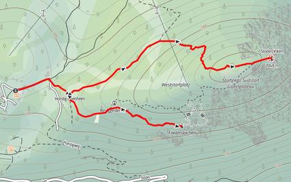 Route auf den Stoderzinken und zum Friedenskircherl