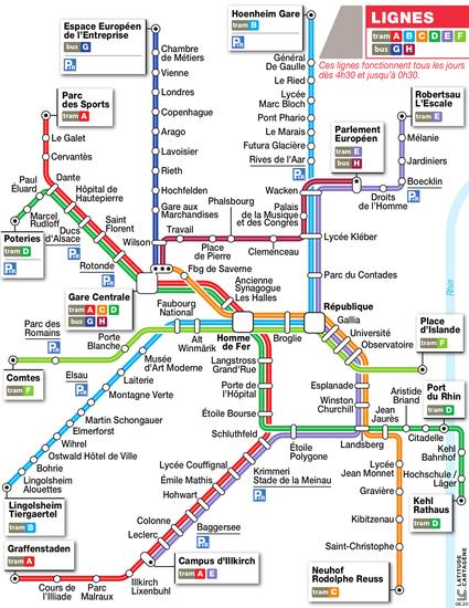 plan tram strasbourg