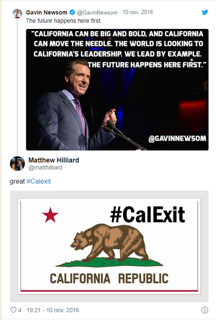 In 2016, some people were already talking about a Calexit on Twitter...