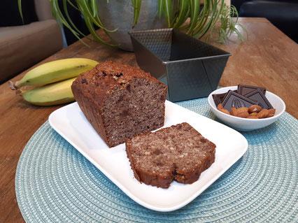 Bananenbrood met noten en chocola (Doelgericht Coaching)