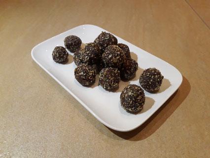 Tahin chocolade bolletjes (Doelgericht Coaching)