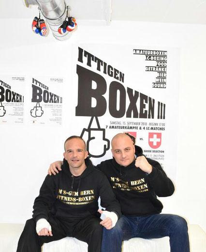 Marco Spath (Inhaber/Cheftrainer) mit Bernie Pulfer (Assistent-Trainer) dipl. Fitness und Boxtrainer