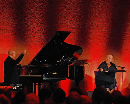 Thomas Quasthoff beim Konzert im Robert-Schuman-Haus mit Frank Chastenier am Klavier. FOTO: TV / Eva-Maria Reuther