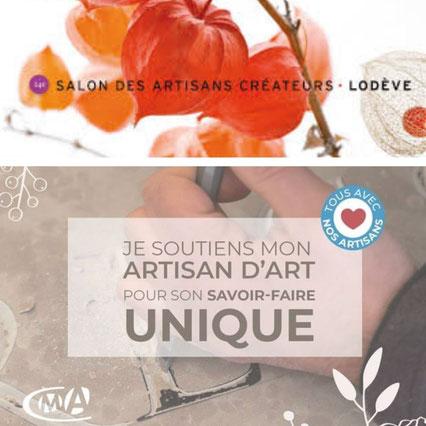 La cinquieme saison sera présente à la 24ème édition du salon des artisans créateurs de Lodève (hérault), du 26 au 29 novembre 2020.